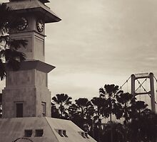 Bentong Clock and Kartanegara Bridge of Tenggarong Kutai Kartanegara East Borneo by PutroGraph
