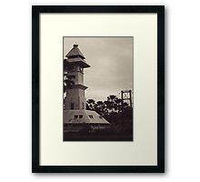 Bentong Clock and Kartanegara Bridge of Tenggarong Kutai Kartanegara East Borneo Framed Print