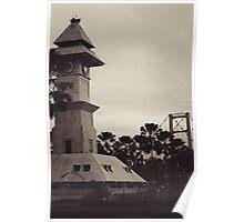 Bentong Clock and Kartanegara Bridge of Tenggarong Kutai Kartanegara East Borneo Poster