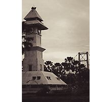 Bentong Clock and Kartanegara Bridge of Tenggarong Kutai Kartanegara East Borneo Photographic Print