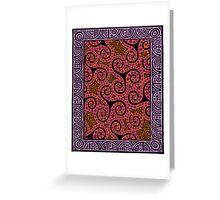 Spirals x3 Greeting Card