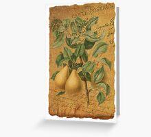 Vintage Pears & Ephemera Collage Design - Vintage Look Greeting Card - Pears Greeting Card