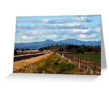 On the road to Little Mountain, Narrabri Greeting Card