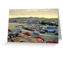 Civitavecchia ,Port and Town Greeting Card