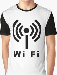 Wi Fi Symbol Graphic T-Shirt