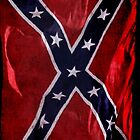 Confederate Flag Southern Cross US Flag by Val  Brackenridge