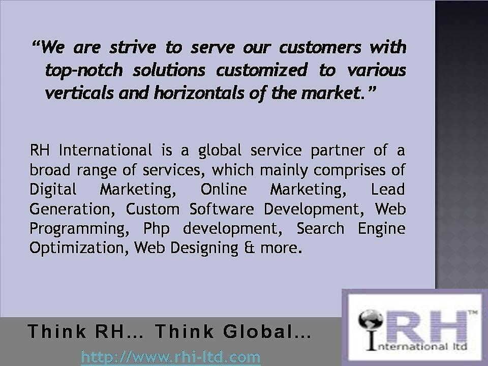 Get top-notch solutions at affordable prices by rhiltd