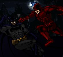 Batman vs Daredevil by THSWESSEL