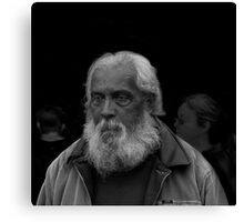 Portrait 1 (The Weight Of The World On His Shoulders) Canvas Print