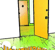 housewarming comic door by maydaze