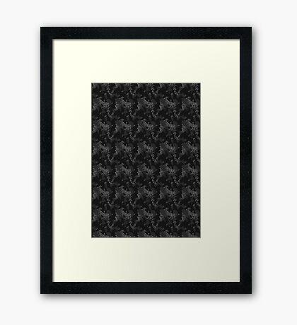 Elephant Print Camouflage - Pop Art, Sneaker Art, Pattern Framed Print