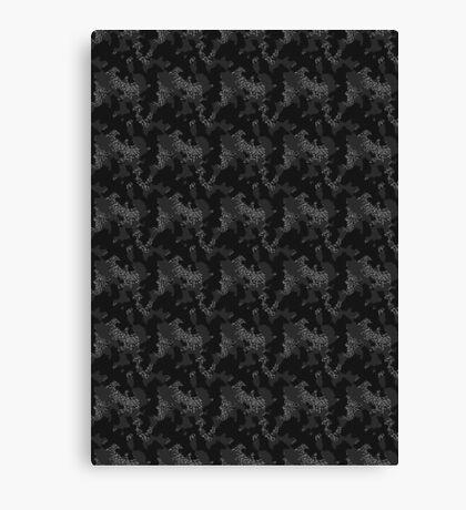 Elephant Print Camouflage - Pop Art, Sneaker Art, Pattern Canvas Print