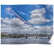 Queens Birthday Flypast 4 - The Reds Over London -  15.06.2013 Poster