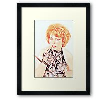 Experienced lady Framed Print