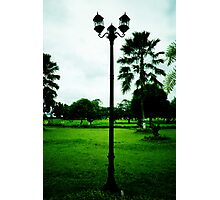 lamp ornament of legendary Kartanegara Bridge of Kutai Kartanegara East Borneo - collapsed 2010 Photographic Print