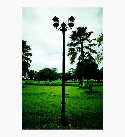 lamp ornament of legendary Kartanegara Bridge of Kutai Kartanegara East Borneo - collapsed 2010 Photographic Print