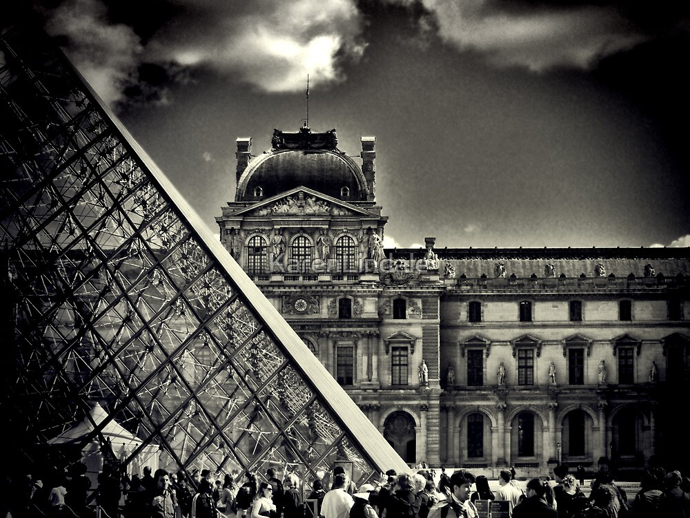 Day at the Louvre by KarenLindale