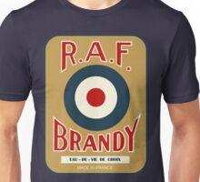 vintage R.A.F. Brandy French liquor bottle label modern remake Unisex T-Shirt