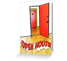 comic open house card Greeting Card