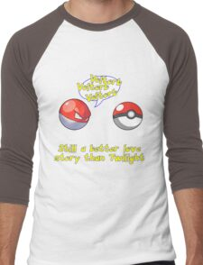 Voltorb Joke  (Pokemon Parody) Men's Baseball ¾ T-Shirt