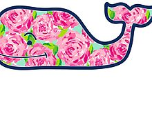 Whale with Roses by itslit