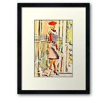 French whore Framed Print