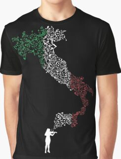 Italian Violinist Graphic T-Shirt