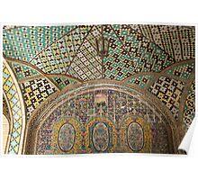 Glazed Tiles, Tehran, Iran Poster