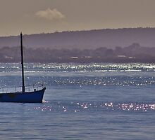Fishing Boat On Winter's Day by hurky