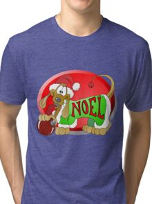 Noel Dachshund Tri-blend T-Shirt