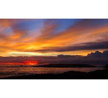 winter sunrise. bicheno, eastcoast, tasmania Photographic Print