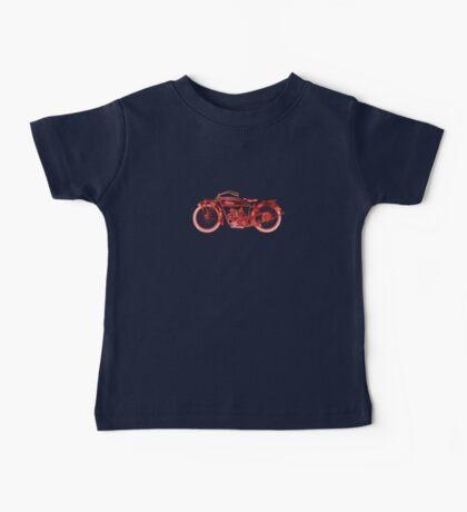 Vintage Indian Scout Motorcycle Print Baby Tee