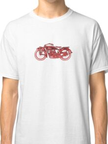 Vintage Indian Scout Motorcycle Print Classic T-Shirt