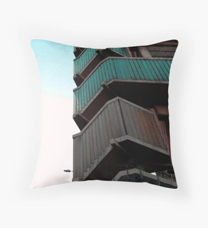 Walkways, Moore street, Sheffield Throw Pillow