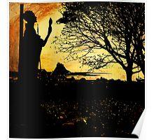 St Aidan's Statue at Linisfarne Poster
