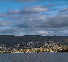 Hobart from the Derwent River, Tasmania #2 by Elaine Teague