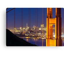 Golden Gate View Canvas Print