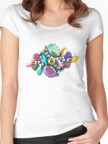 Bejewelled and Fabulous! Women's Fitted Scoop T-Shirt