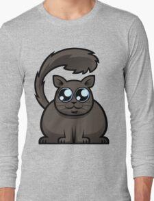 Brown Cat Long Sleeve T-Shirt