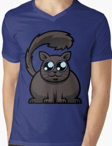 Brown Cat Mens V-Neck T-Shirt