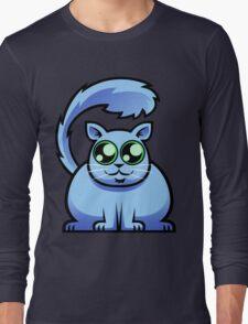 Blue Cat Long Sleeve T-Shirt