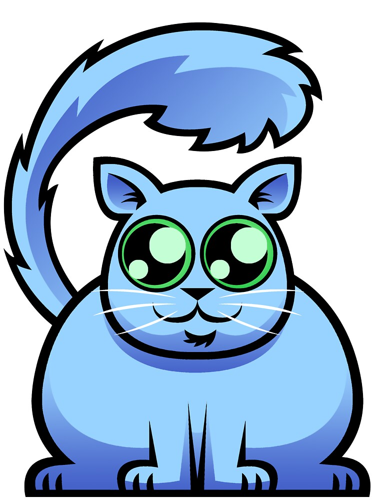 Blue Cat by Maxwell Waite