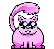 Pink Cat Photographic Print
