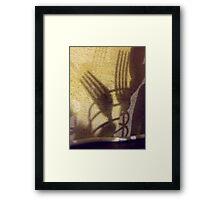 261/365 shadow tines Framed Print