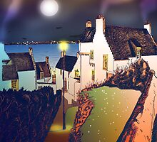 Hie Gait, the Town of Dysart, Scotland [colour version] by Grant Wilson