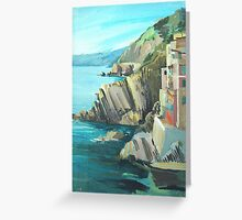 Coastline from Riomaggiore Greeting Card