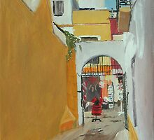 Laneway and Flamenco Shop, Seville by Lise Temple