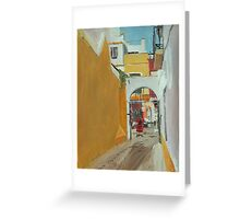 Laneway and Flamenco Shop, Seville Greeting Card
