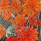 """CACTI  EXTRAORDINAIRE RED by Belinda """"BillyLee"""" NYE (Printmaker)"""