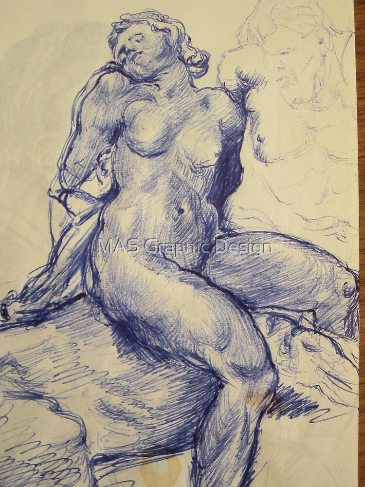 Woman nude sketch by atelierwilfried